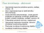 faze investiranja aktivnosti1