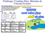 challenge combine data metadata concept systems
