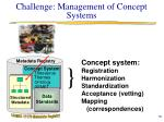challenge management of concept systems