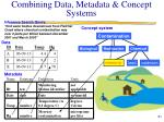 combining data metadata concept systems