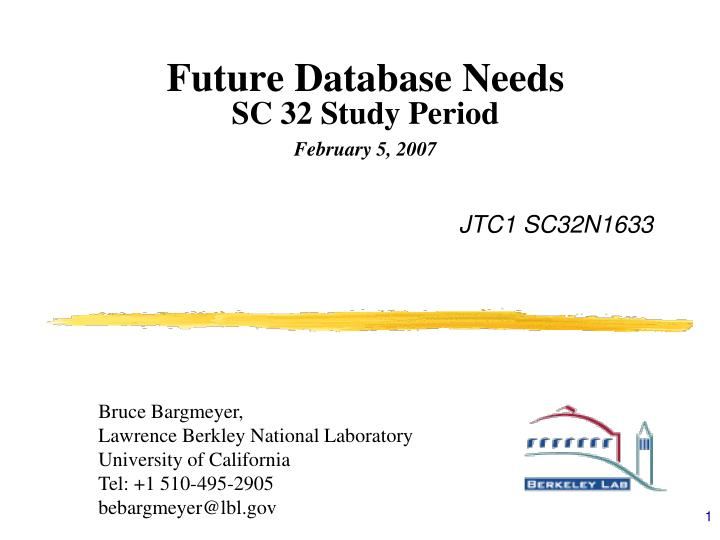 future database needs sc 32 study period february 5 2007 n.