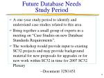 future database needs study period
