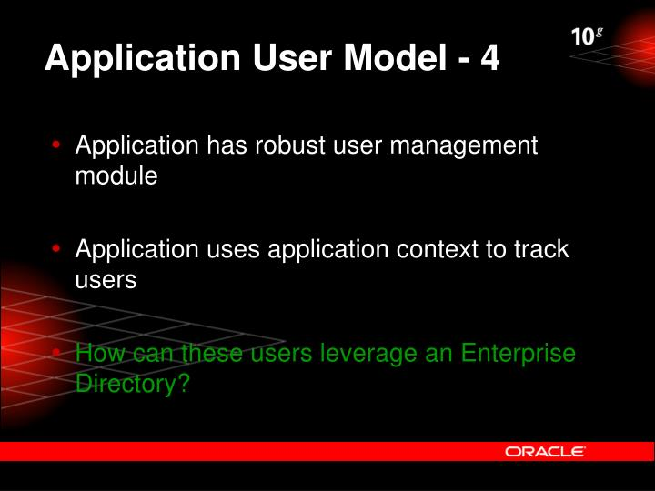Application User Model - 4