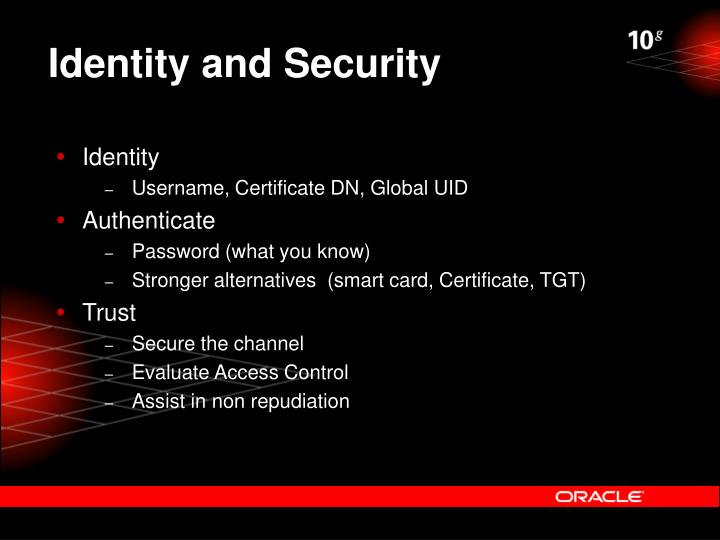 Identity and Security