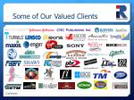 some of our valued clients