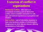 5 sources of conflict in organizations