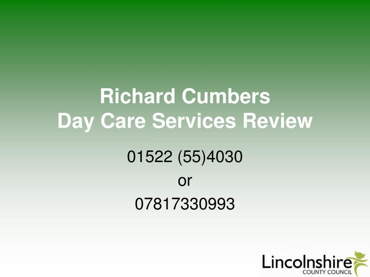 richard cumbers day care services review n.