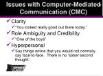 issues with computer mediated communication cmc