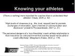 knowing your athletes