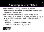 knowing your athletes1