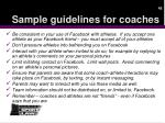 sample guidelines for coaches