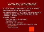 vocabulary presentation
