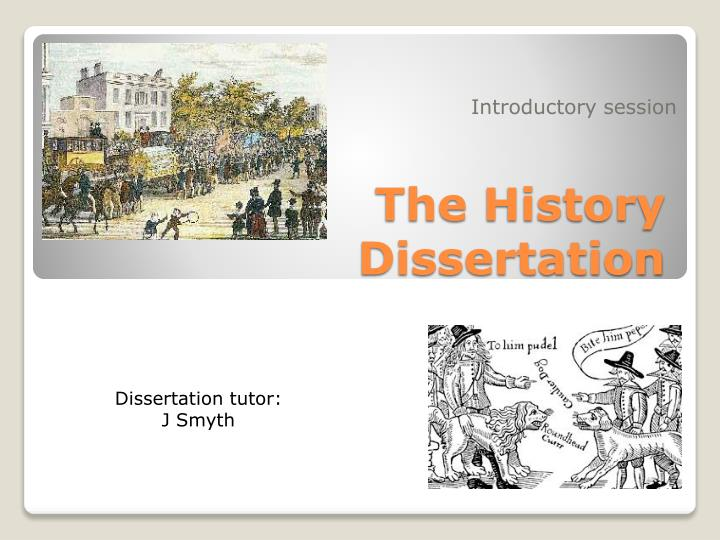 the history dissertation n.