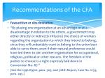 recommendations of the cfa3