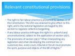 relevant constitutional provisions3