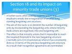 section 18 and its impact on minority trade unions 3