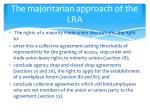 the majoritarian approach of the lra1