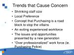 trends that cause concern