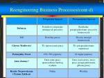 reengineering business processes cont d