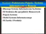rozdzia i podstawowe poj cia systemy informatyczne w biznesie