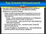 typy system w informatycznych c d