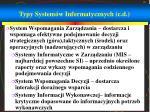 typy system w informatycznych c d1