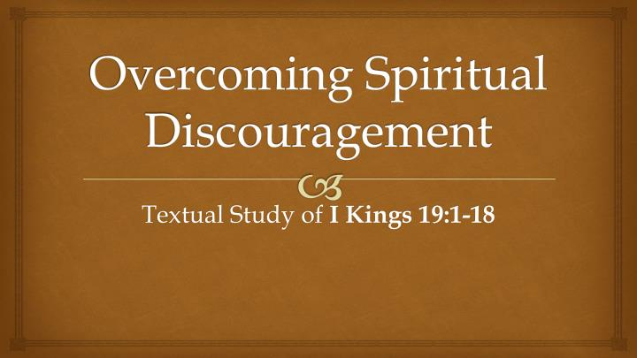 overcoming spiritual discouragement n.