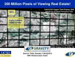 200 million pixels of viewing real estate