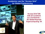 academics use the access grid for global conferencing