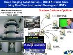brain imaging collaboration ucsd osaka univ using real time instrument steering and hdtv