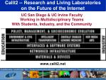 calit2 research and living laboratories on the future of the internet