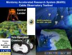 monterey accelerated research system mars cable observatory testbed