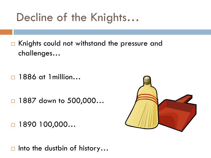 Decline of the Knights…