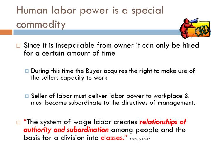 Human labor power is a special commodity