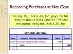 recording purchases at net cost1