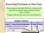 recording purchases at net cost2