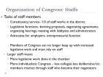 organization of congress staffs