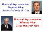 house of representatives majority whip kevin mccarthy r ca