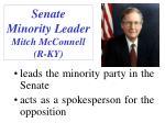 senate minority leader mitch mcconnell r ky