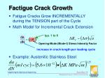 factigue crack growth