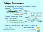 fatigue parameters