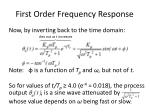 first order frequency response1