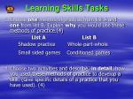 learning skills tasks