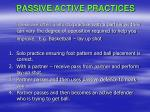 passive active practices