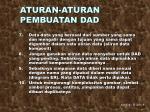 aturan aturan pembuatan dad2