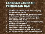 langkah langkah pembuatan dad