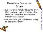 rewrite a favourite story