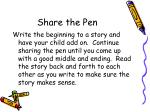 share the pen