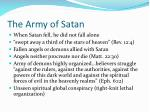 the army of satan