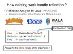reflection analysis for java3